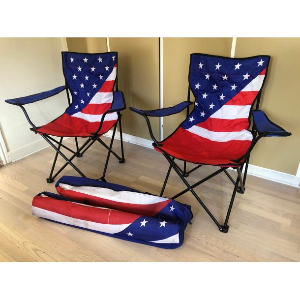 Brugt USA campingstole sæt
